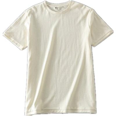 [HEMP SHOW] 260GSM生地hemp Tshirt ヘンプ/オーガニックコットン, メンズ Tシャツ 半袖 (XXL)