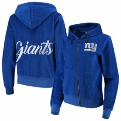 Forever Collectibles フォーエバー コレクティブル スポーツ用品  New York Giants Womens Royal Velour Suit Full-