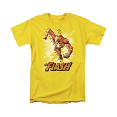 Tシャツ DCコミックス DC Comics The Flash Yellow Licensed Adult T Shirt
