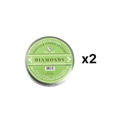 クッキーカッター フォックスラン Fox Run Diamond Shaped Cookie Biscuit Pastry Dough Cutters 6-Piece Set (2-Pack)