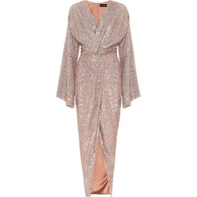 ロサリオ RASARIO レディース パーティードレス ワンピース・ドレス sequined gown Bronze