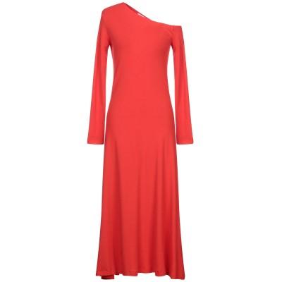 ロゼッタ・ゲッティ ROSETTA GETTY ロングワンピース&ドレス 赤茶色 M コットン 100% ロングワンピース&ドレス