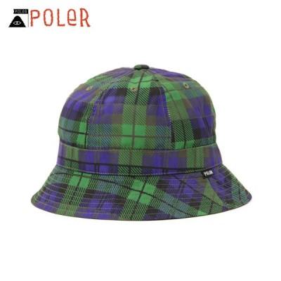 ポーラー ハット メンズ レディース 正規販売店 POLER 帽子 ベルハット POLER COMFORT BELL HAT 55100152-BWA BLACK WATCH