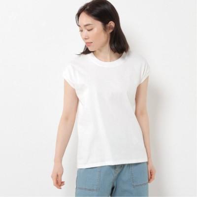 天竺フレンチスリーブTシャツ オフホワイト M L LL