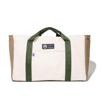キャンパーギア トートバッグ (ホワイト×ベージュ) 45×24×30cm