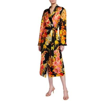 ドリス・ヴァン・ノッテン レディース ワンピース トップス Charly Floral Tie-Front Wrap Dress