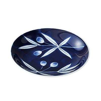 西海陶器 波佐見焼 カーベリー 小皿 オリーブ 31119 ネイビー 10.5cm
