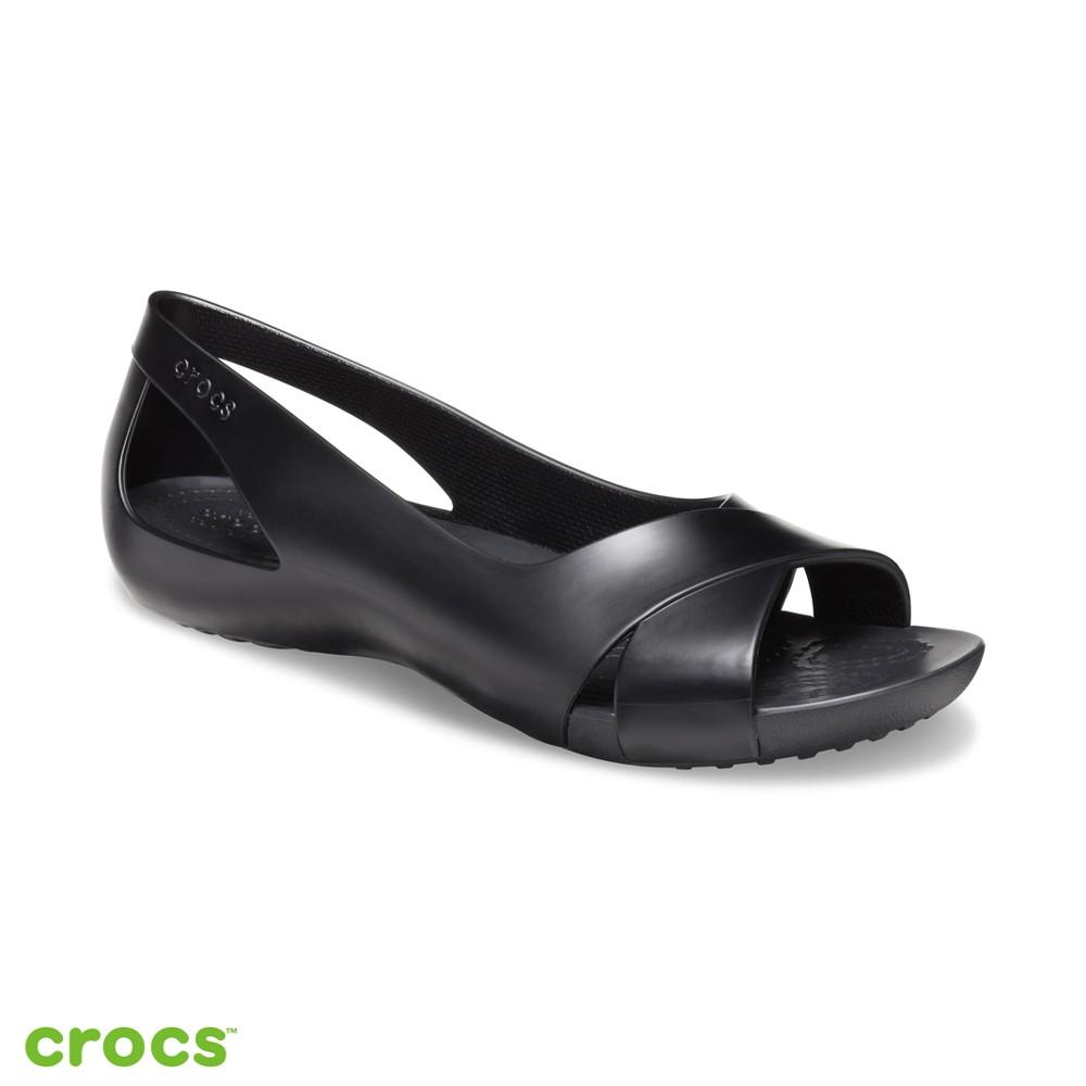 Crocs卡駱馳 (女鞋) 瑟琳娜花漾女士平底鞋- 206106-001