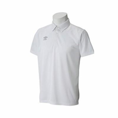 アンブロ(UMBRO) ワンポイントポロシャツ UCS7556 WHSV ホワイト/シルバー XO
