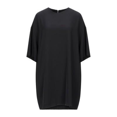 OTTOD'AME ミニワンピース&ドレス ブラック 40 ポリエステル 97% / ポリウレタン 3% ミニワンピース&ドレス