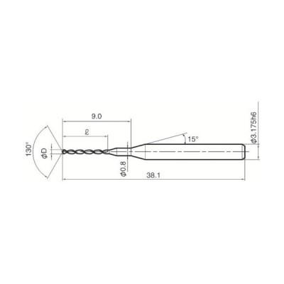 京セラ ファインマイクロドリル FSA FSA ( FDM-035  FSA ) (10個セット)京セラ(株) (メーカー取寄)
