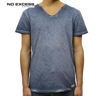 ノーエクセス NO EXCESS 正規品 メンズ 半袖VネックTシャツ T-shirt s/sl V-Neck slub