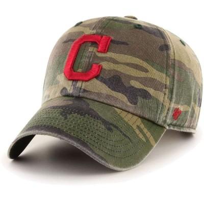 フォーティセブン 47 メンズ キャップ 帽子 Cleveland Indians Camo Clean Up Adjustable Hat