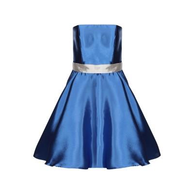 ANTONIO D'ERRICO ミニワンピース&ドレス ブルー 44 ポリエステル 89% / シルク 11% ミニワンピース&ドレス