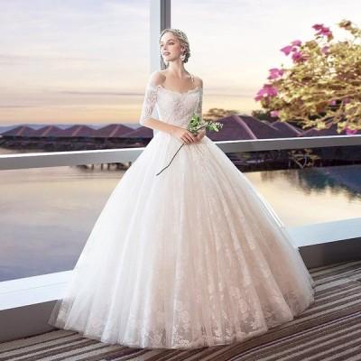 ウェディングドレス 花嫁 ウエディングドレス 白 安い ブライダル wedding dress 結婚式 プリンセスラインドレス 二次会 格安 大きいサイズ パーティード