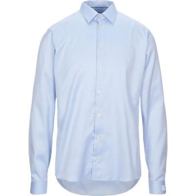 イートン ETON メンズ シャツ トップス solid color shirt Sky blue