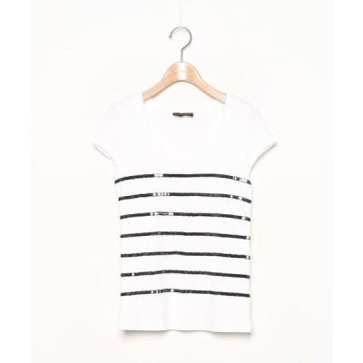 tシャツ Tシャツ ボーダー柄半袖カットソー