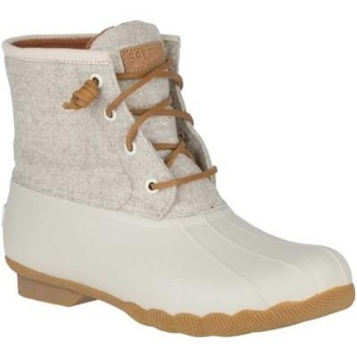 トップサイダー スニーカー シューズ レディース Saltwater Duck Boot (Women's) Off White Wool