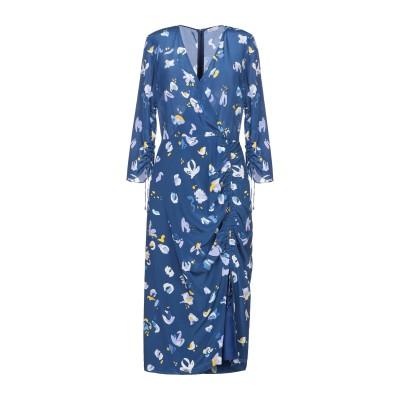 アルチュザラ ALTUZARRA 7分丈ワンピース・ドレス ブルー 36 シルク 100% 7分丈ワンピース・ドレス