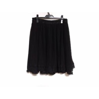 ローズティアラ Rose Tiara スカート サイズ46 XL レディース 新品同様 黒 レース/プリーツ【還元祭対象】【中古】20200904