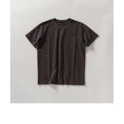 SHIPS: リンクス ジャガード リーフ柄 Tシャツ