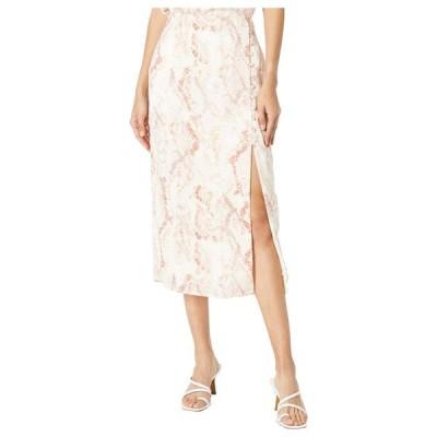 カップケーキアンドカシミア レディース スカート ボトムス Fairfax 'Spring Snake' Soft Satin Midi Skirt