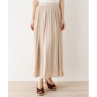 OPAQUE.CLIP(オペークドットクリップ) 【洗える・42(LL)WEB限定サイズ】ヴィンテージサテンスカート
