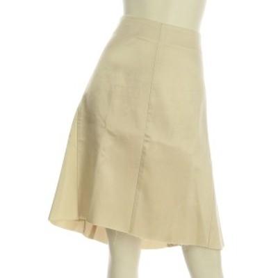 セリーヌ CELINE スカート サイズXL レディース ベージュ系 フレアスカート キュプラ100%【中古】20210127