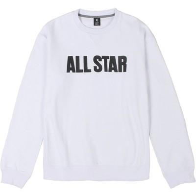 CONVERSE コンバース クールネックスウェットシャツ ホワイト CA292210-1100