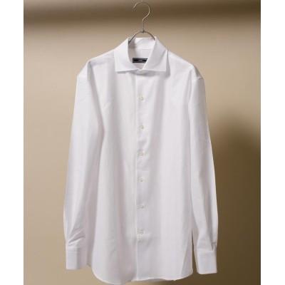 【シップス】 SD: カラミ ワンピースカラー シャツ メンズ ホワイト 41 SHIPS