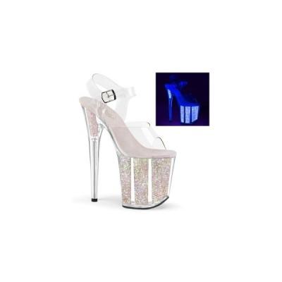 ファッション レディース ハイヒール サンダル Clr/Neon Opal Glitter pleaser プリーザー FLAMINGO−808UVG flam808uvg-c-nopg お取り寄せ商品