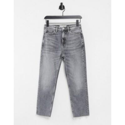 トップショップ レディース デニムパンツ ボトムス Topshop straight leg jeans in gray Grey