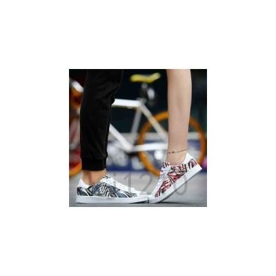 カップルペアシューズカップル靴ペアお揃いスニーカー厚底フラットシューズローカットファッションエスニックレースアップランニン