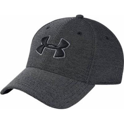 アンダーアーマー メンズ 帽子 アクセサリー Under Armour Men's Heathered Blitzing Hat Black/Graphite