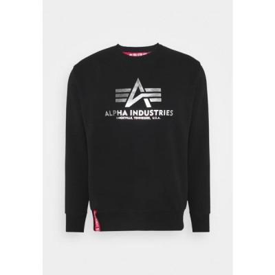 アルファインダストリーズ メンズ ファッション BASIC - Sweatshirt - black/metalsilver