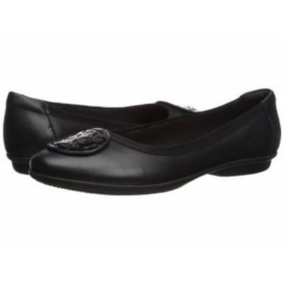 Clarks クラークス レディース 女性用 シューズ 靴 フラット Gracelin Lola Black Leather/Synthetic Combo【送料無料】
