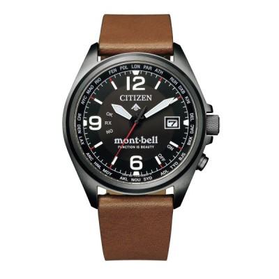 シチズン CITIZEN 腕時計 CB0177-31E プロマスター PROMASTER メンズ モンベル・コラボ第四弾 電波ソーラー 牛革バンド アナログ (国内正規品)