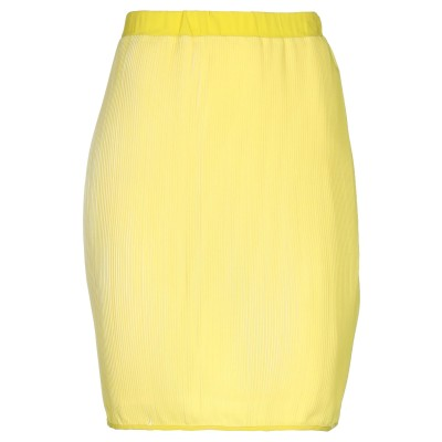 ピアヌラストゥーディ�� PIANURASTUDIO ひざ丈スカート イエロー 42 ポリエステル 100% ひざ丈スカート