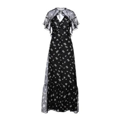 ポール & ジョー PAUL & JOE ロングワンピース&ドレス ブラック 36 シルク 100% ロングワンピース&ドレス
