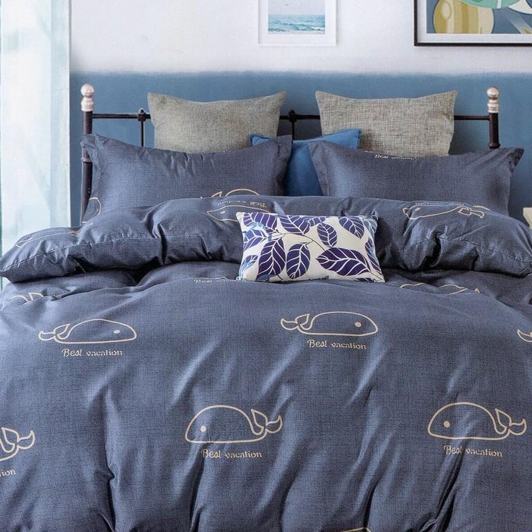 【優作家居】藍鯨 台灣製 床包枕套組/被套床包組/兩用被床包組