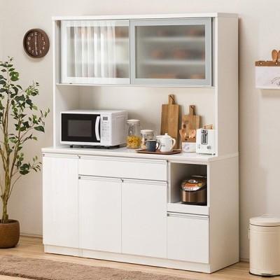 食器棚(レジューム 150AG-S WH/150TL-R WH) ニトリ 『配送員設置』 『5年保証』