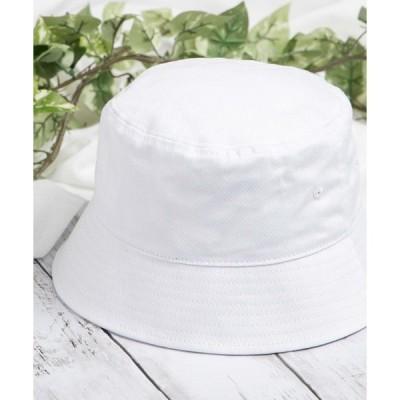 帽子 ハット WEGO/プレーンバケットハット