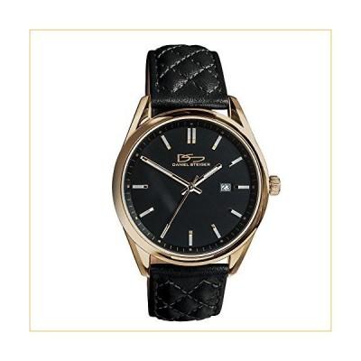 Daniel Steiger Legacy Luxury Precision Black Watch - 5ATM Water Resistant - Luxurious Genuine Leather Strap - Premium Grade Stainless Steel - Precisio