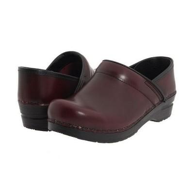 Sanita サニタ レディース 女性用 シューズ 靴 クロッグ ミュール Professional Cabrio - Bordeaux Brush Off Leather