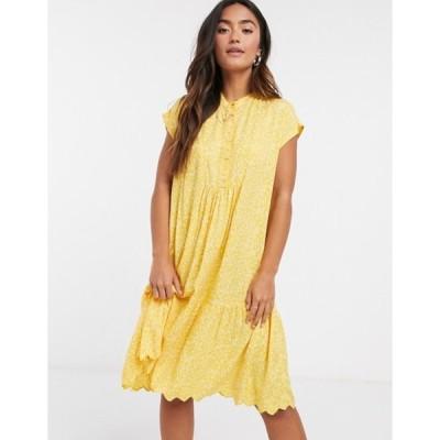ワイエーエス レディース ワンピース トップス Y.A.S mini smock dress with ruffle detail in ditsy floral