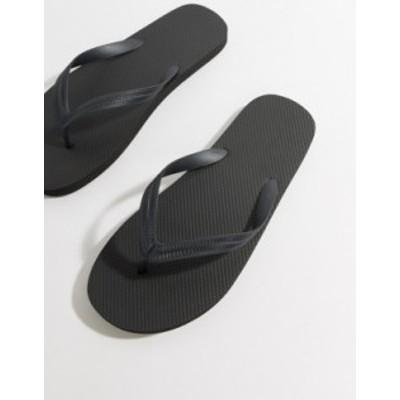 エイソス メンズ サンダル シューズ ASOS DESIGN flip flops in black Black