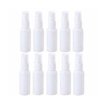10個セット スプレーボトル 詰替ボトル 次亜塩素酸水対応 透明小分けボトル ボトルスプレー 遮光 容器 白 (30ml