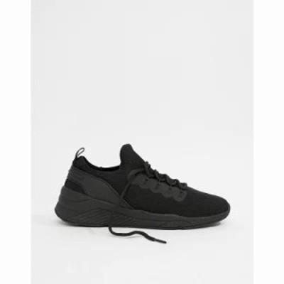 エイソス スニーカー trainers in black mesh Black
