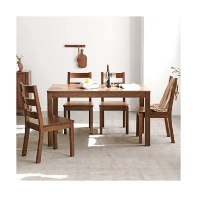 ダイニングテーブル セット 単品 天然木 頑丈 長方形 ダイニングセット 4人 テーブル 木製 チェア 木目調 ナチュラル ブラウン リビング シンプル yeswood