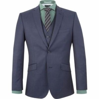 レーシング グリーン Racing Green メンズ スーツ・ジャケット アウター Bentley Pindot Suit Jacket Blue